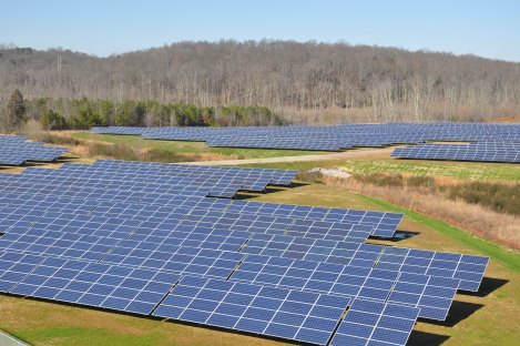 Volkswagen Chattanooga Solar Park - South View Ground Level